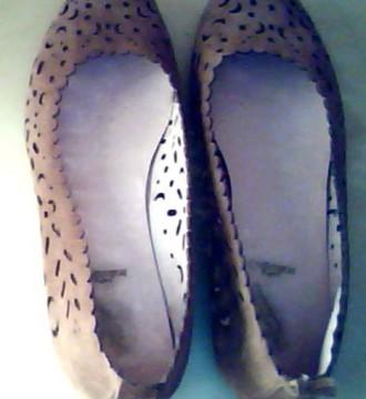 Zapatos de ante marrón