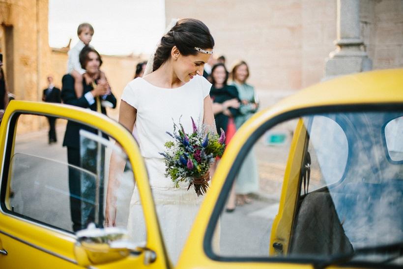 Una boda de color amarillo