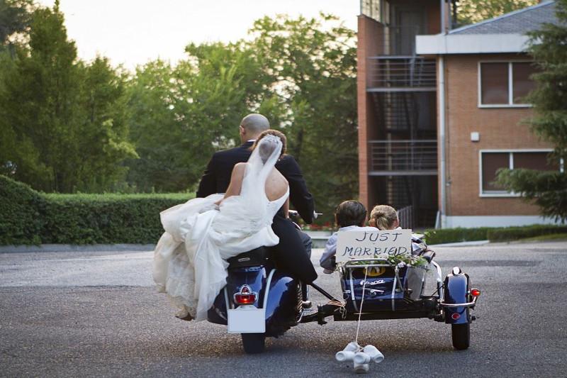 Una moto de Vespa para Eventos