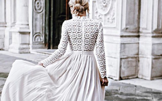 Vestidos de novia plisados