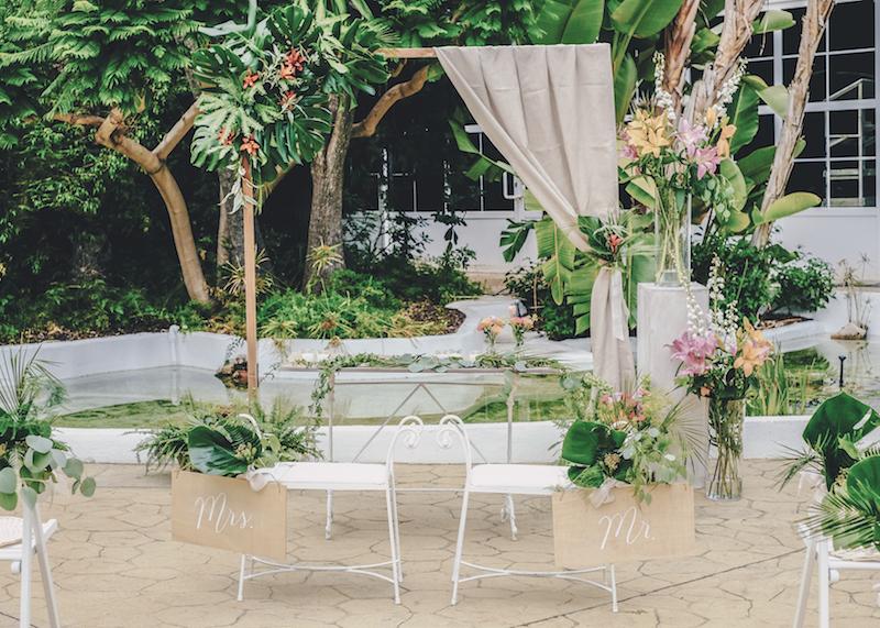 Una boda tropical con Fit For Weddings