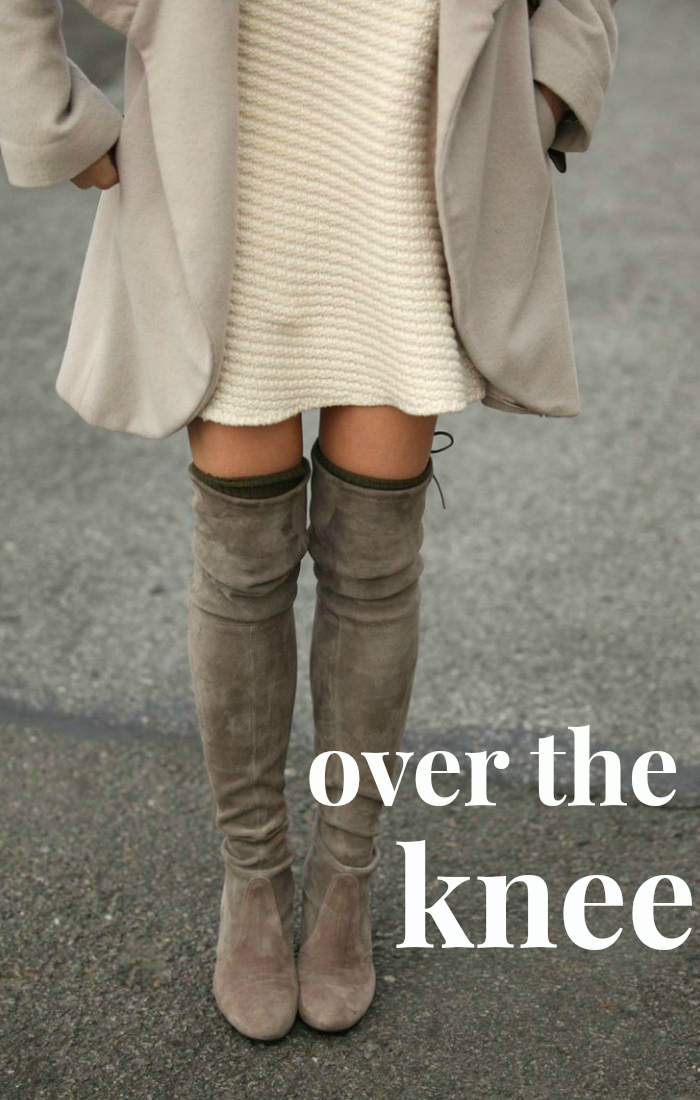 inspiration: over the knee boots