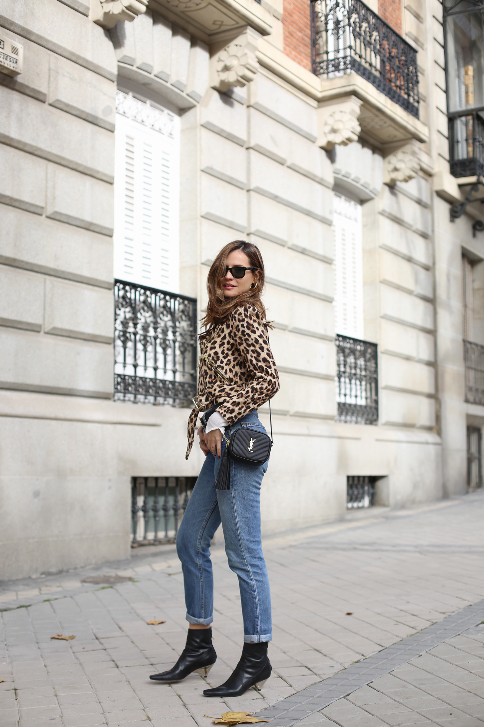 leopard & denim combo