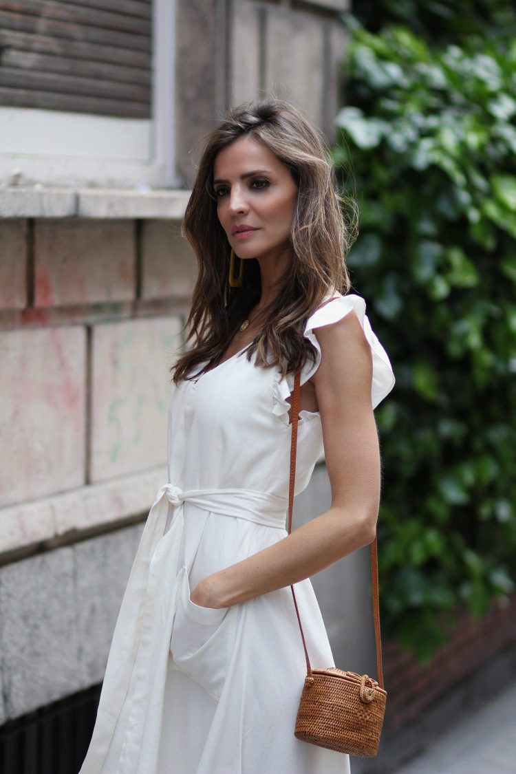 white romantic dress