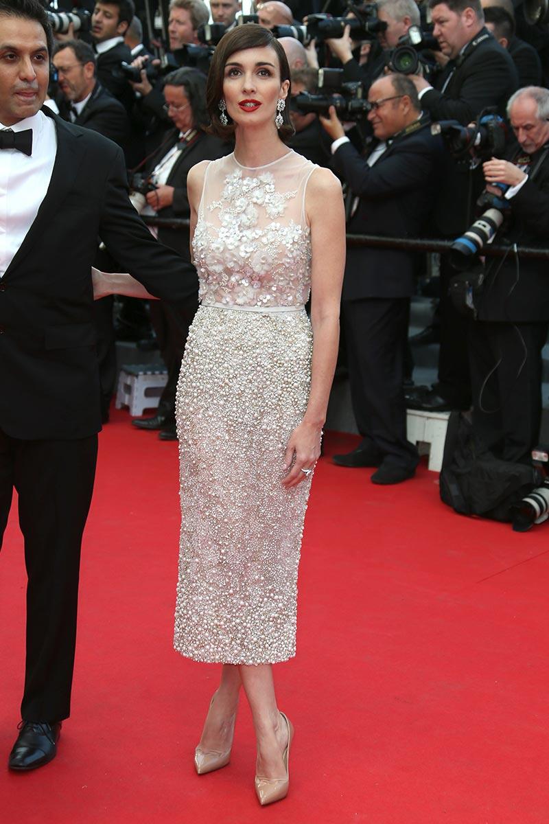 Paz Vega estrenaba la red carpet con este diseño de Elie Saab Couture.