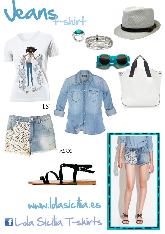 Look of the week: Shorts crochet + Jeans T-shirt + Sombrero Panamá-299-lolasicilia