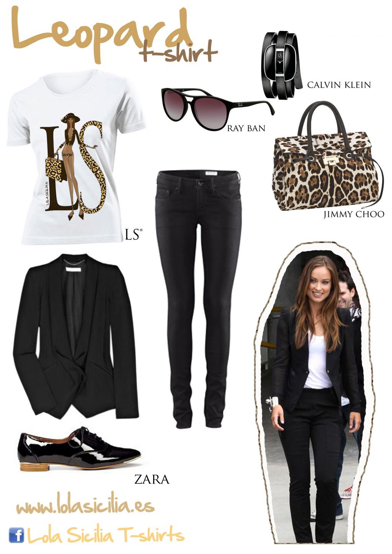 Look of the week: Look Total Black + Leoprad T-shirt-351-lolasicilia
