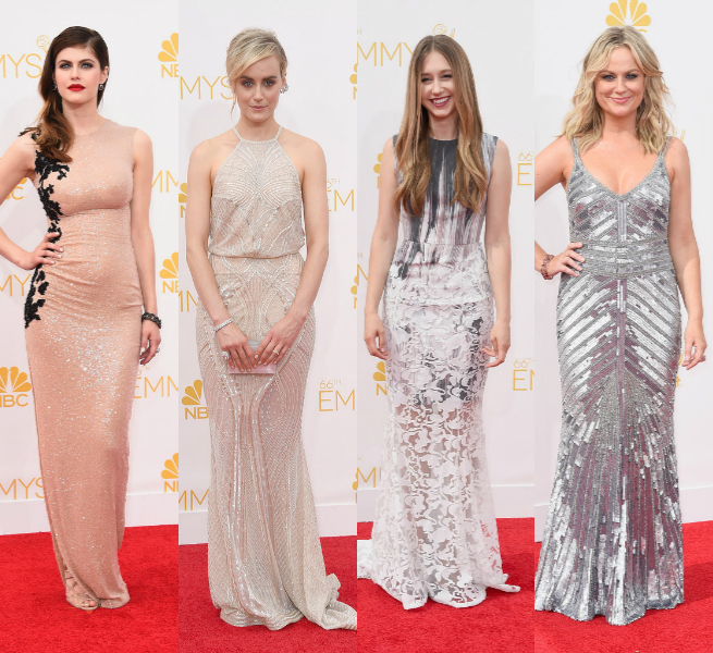 modern embellishments Emmy Awards 2014 dresses