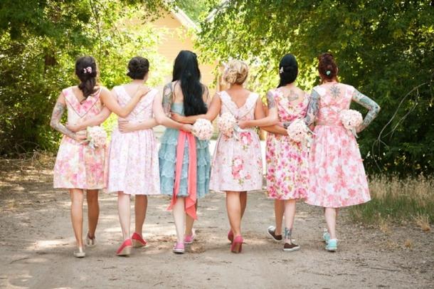 Print bridesmaid dresses fashion-103-jane0229