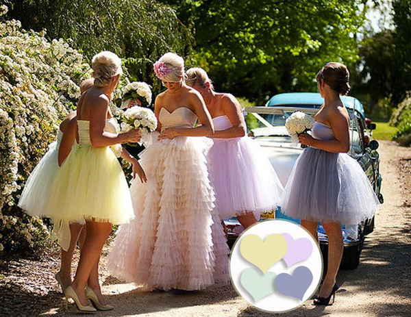 Pretty-Strapless-Baby-Doll-Tulle-Patel-Bridesmaid-Dresses