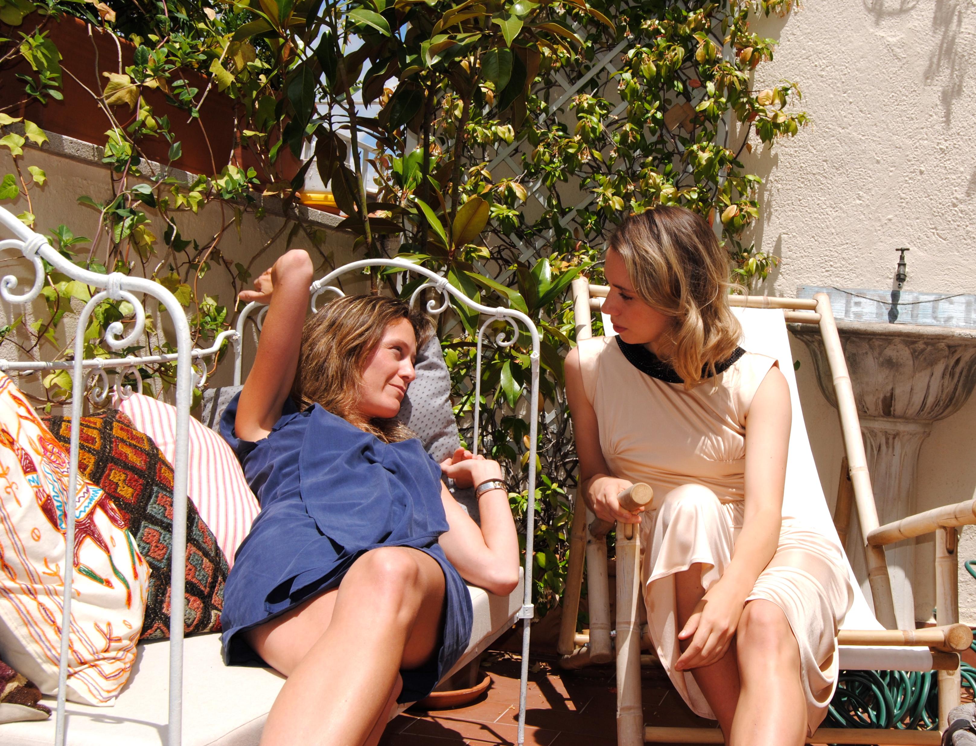 Casilda y yo en la terraza
