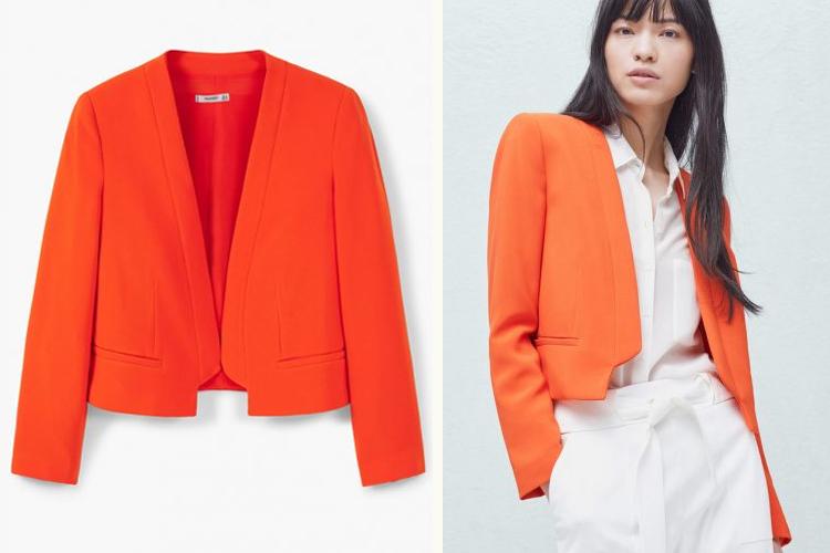 chaquetas de verano-chaqueta crop mango-coral-luz del tajo-fashion 4 me