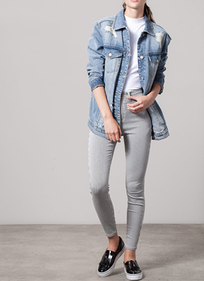 stradivarius luz del tajo-rayas-jeans