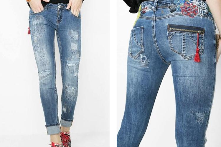 pantalones vaqueros-luz del tajo-fashion 4 me-desigual-rotos