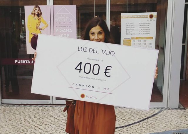 """Luz del Tajo y Fashion 4 Me entregan el premio del concurso """"Consigue Tu Fashion4Me Wishlist"""""""