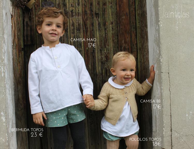 camisas cuello mao para niños