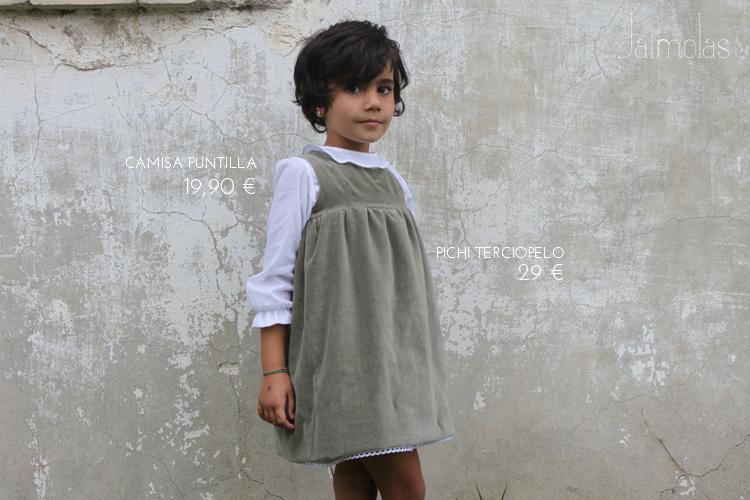 Vestido de terciopelo niña