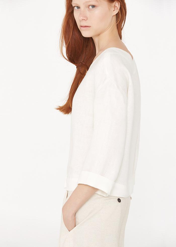 Camisa lino mango premium
