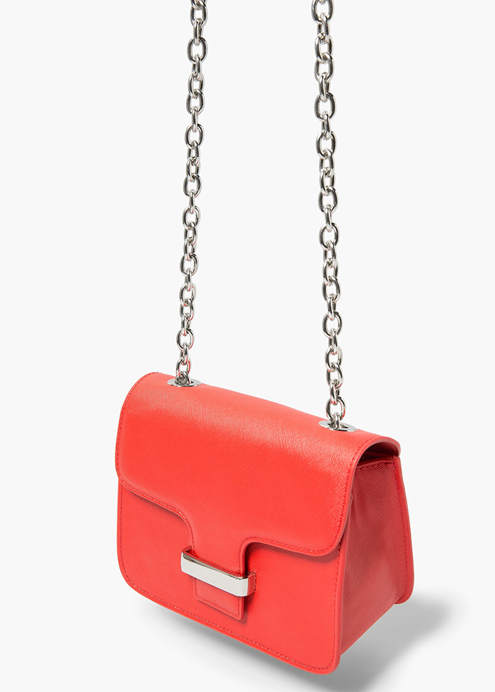Bolso rojo cadena mango