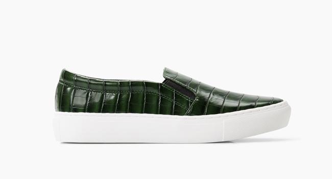 Zapatillas de piel efecto cocodrilo