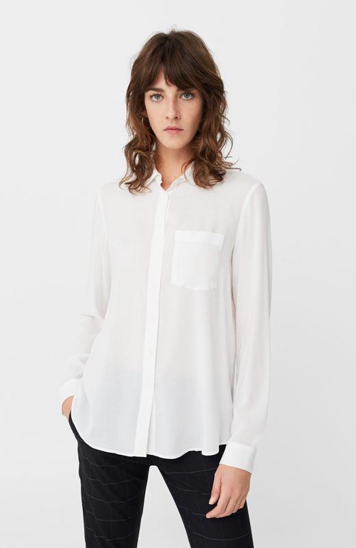 Mango look plan fin de semana camisa blanca