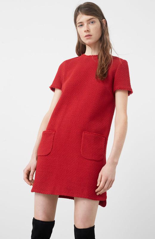 Mango look plan fin de semana vestido rojo