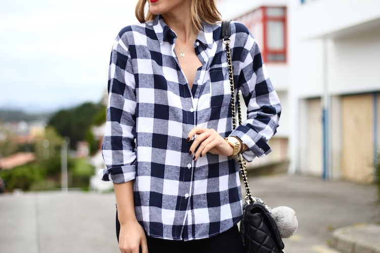 Checked Shirt b&w-78735-martinas