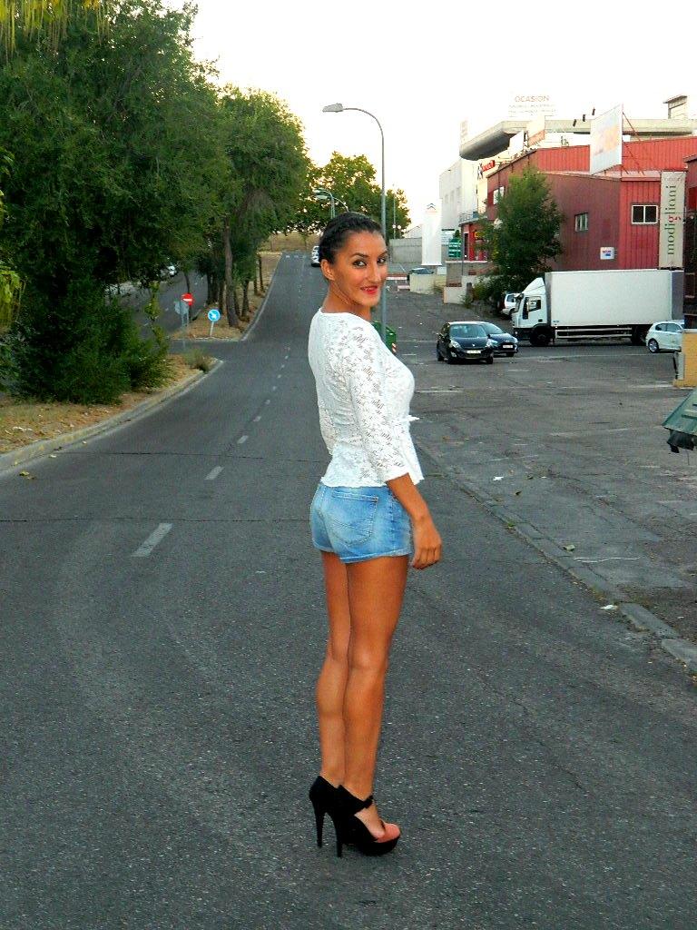 Top encaje y shorts 007