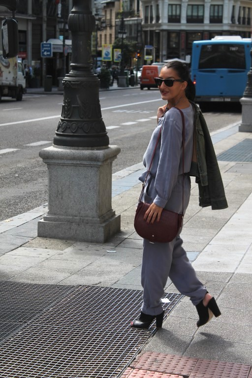 Jumpsuit: Pepe Jeans Botines / boots: H&M Cazadora vaquera / denim jacket: Bershka Bolso / bag: Bershka (New)