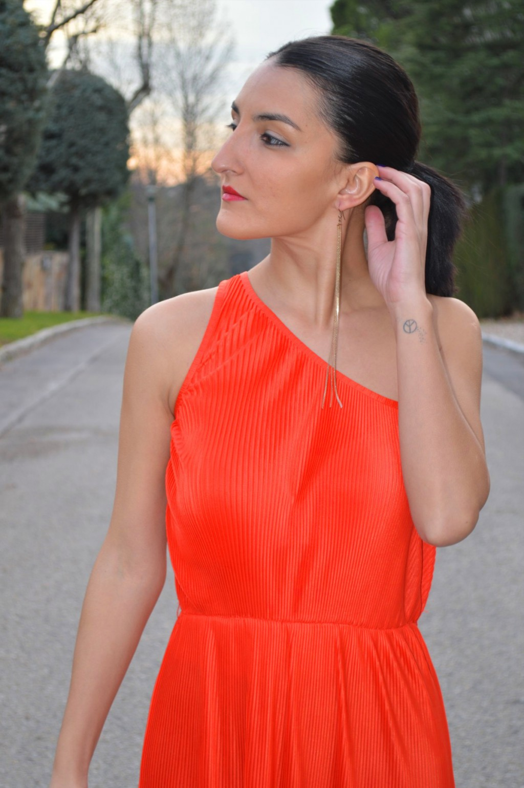 Vestido / dress: Primark (old) Pendiente / earring: Parfois