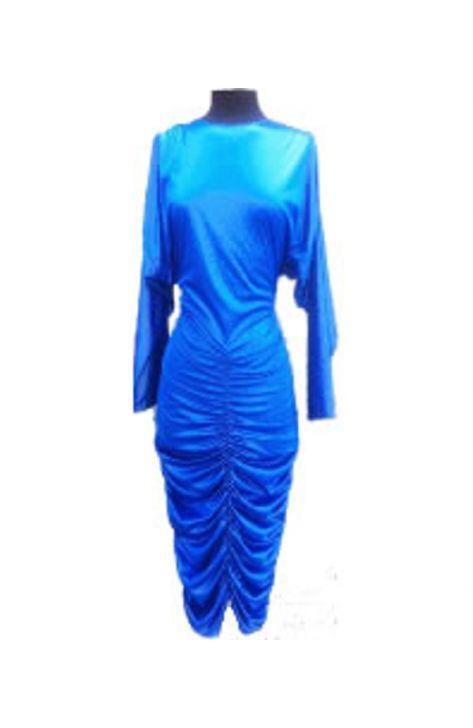 vestido-azul-de-los-años-80