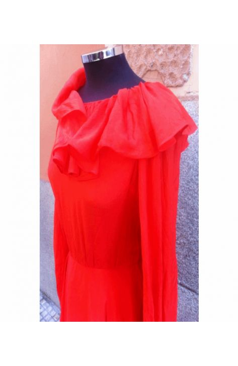 vestido-naranja-años-60