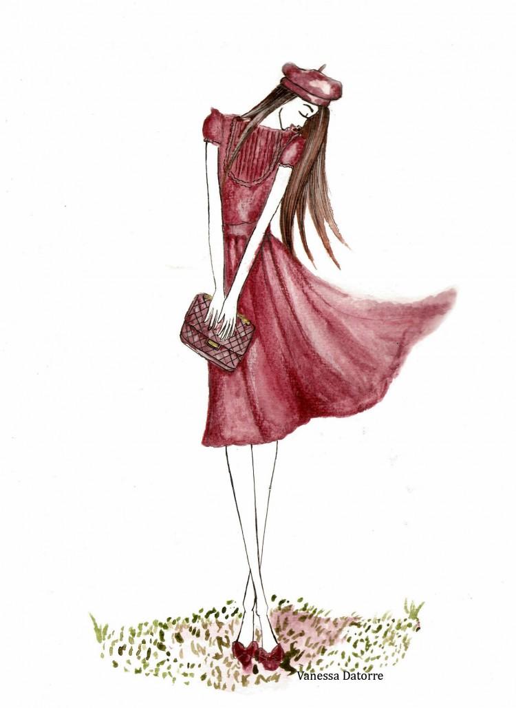 Ilustración de moda vanessa datorre