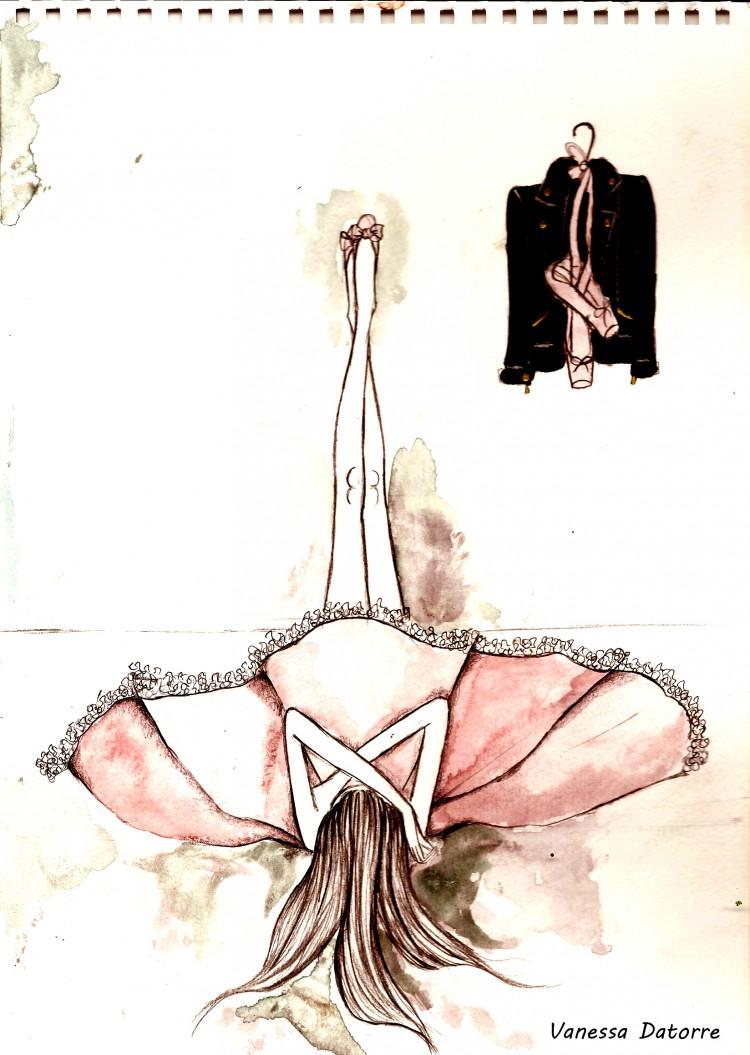 Ballet ilustración de moda