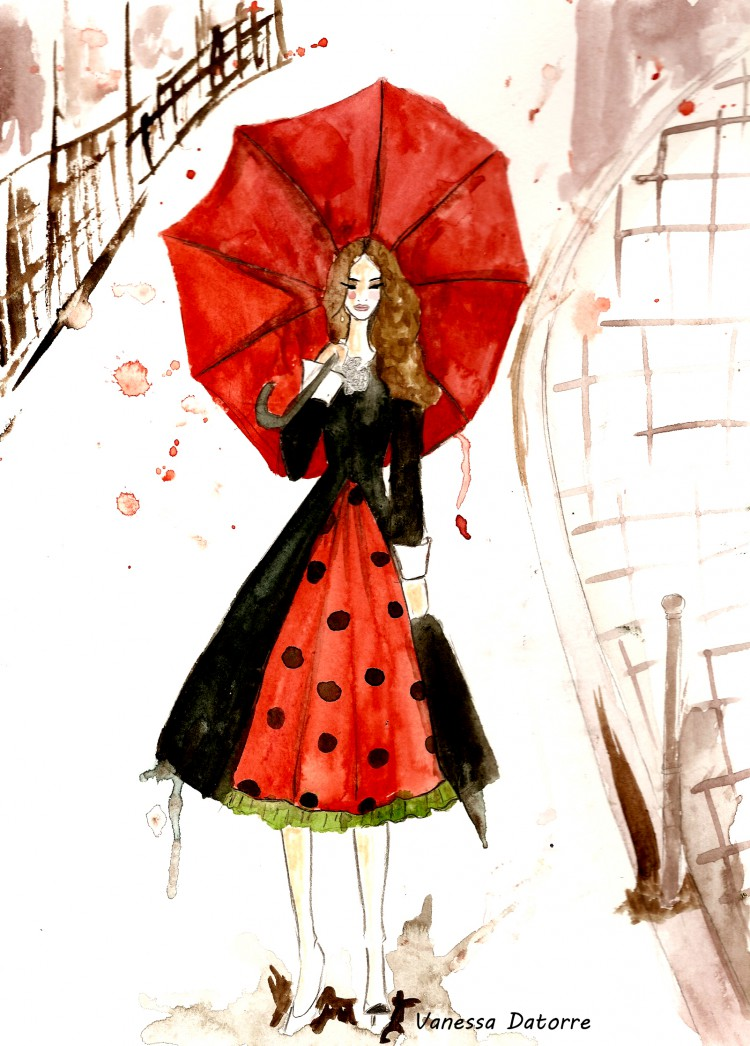 Carrie fashion illustration