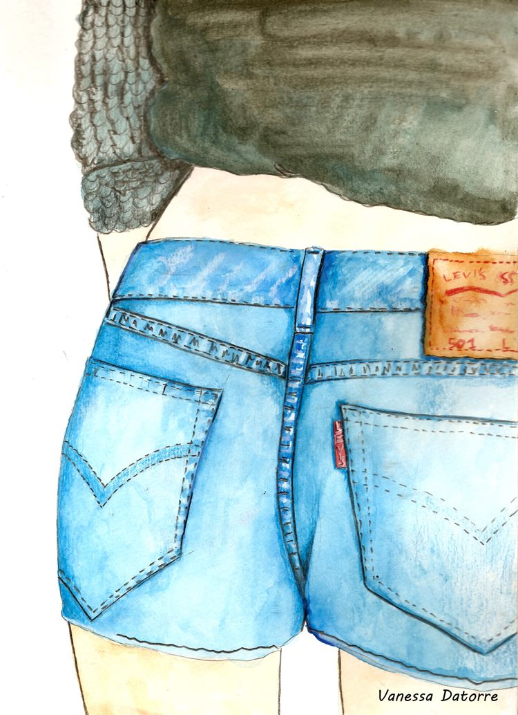 levi's fashion illustration