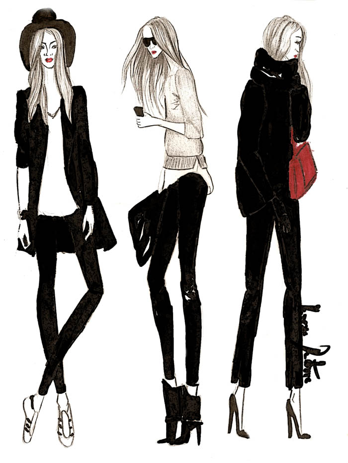 Fashion Illustration Street Style Vanessa Datorre