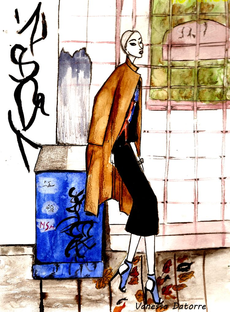 The haute pursuit fashion illustration vanessa datorre