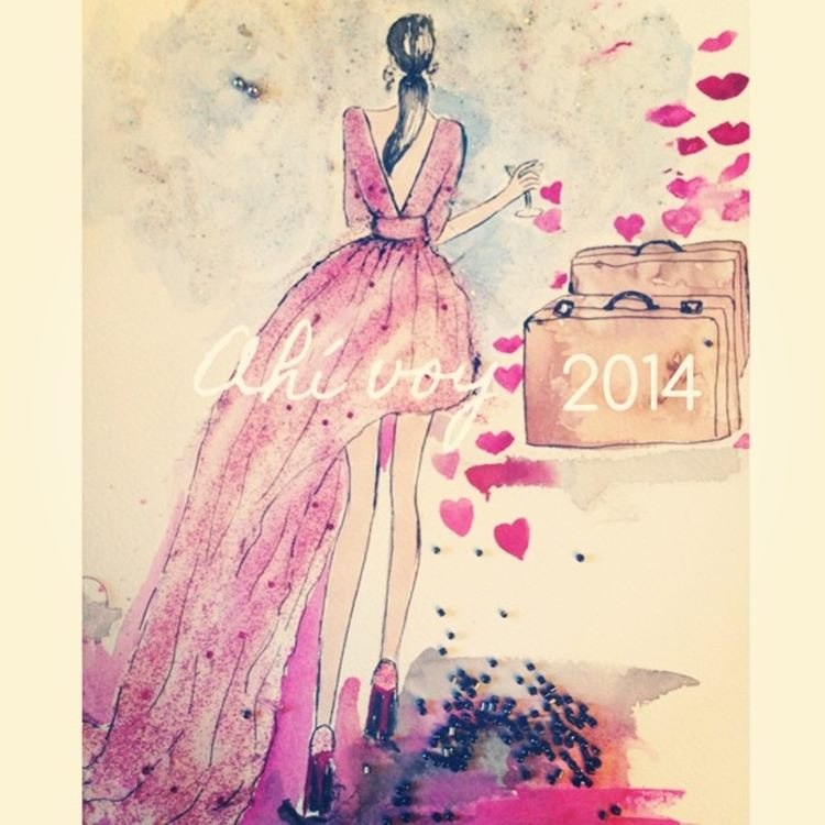 fashion illustration happy new year