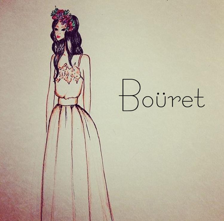 Ilustrando la nueva colección de novia @Boüret-50509-
