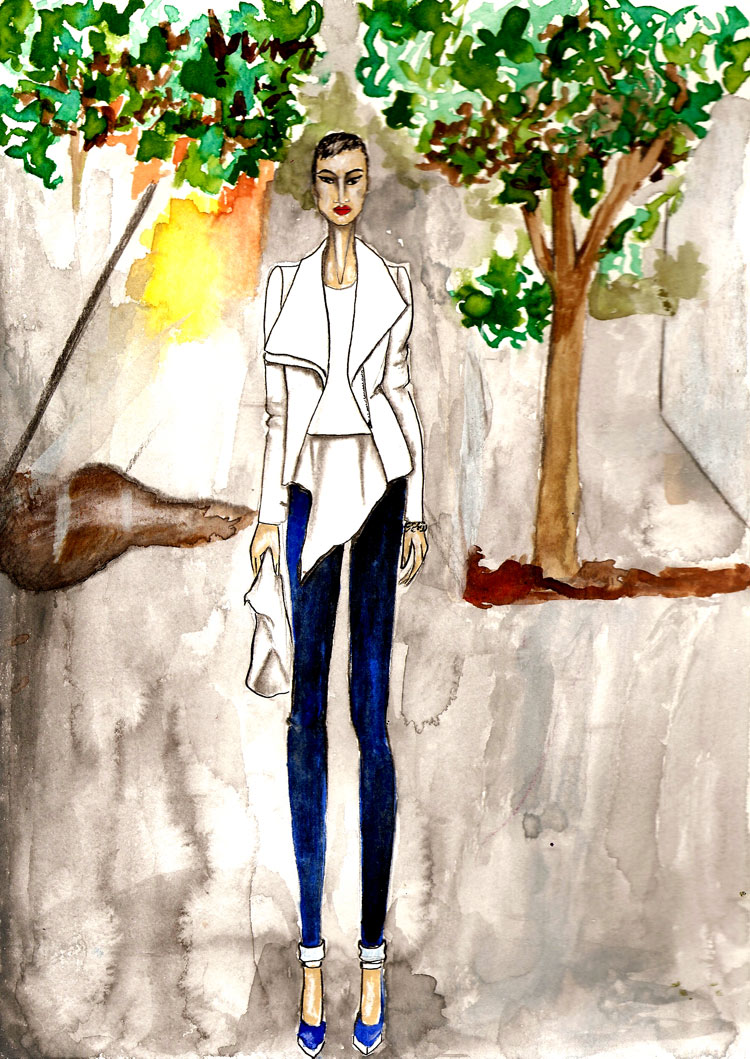 Micah Gianelli fashion illustration