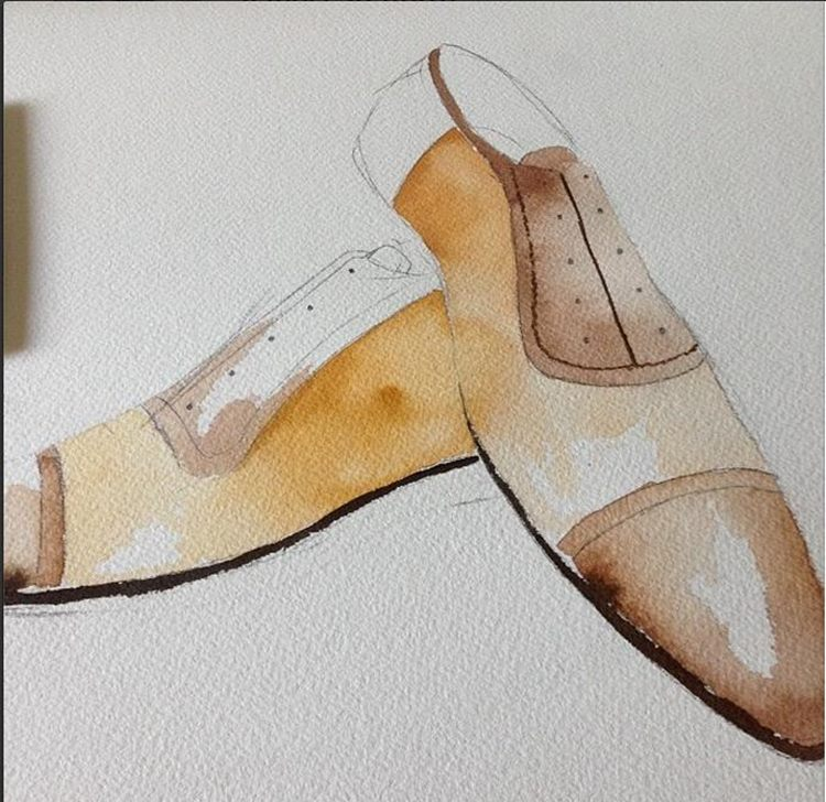 fashion illustration shoes men