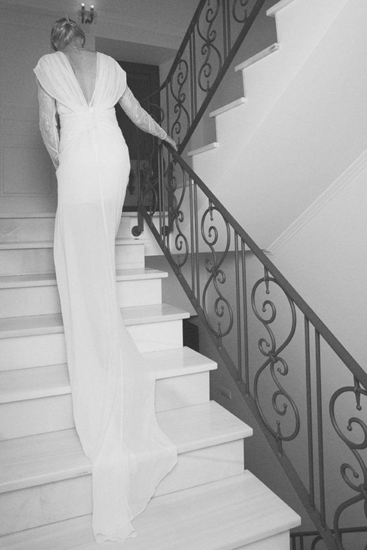 boüret vestido novia gasa