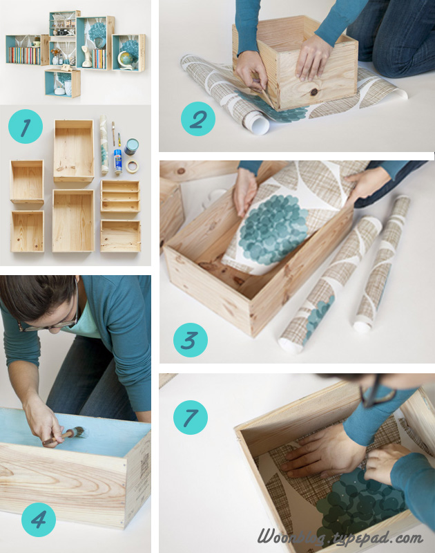 Diy c mo decorar muebles con papel pintado diy homemade - Restaurar decorar y pintar muebles ...