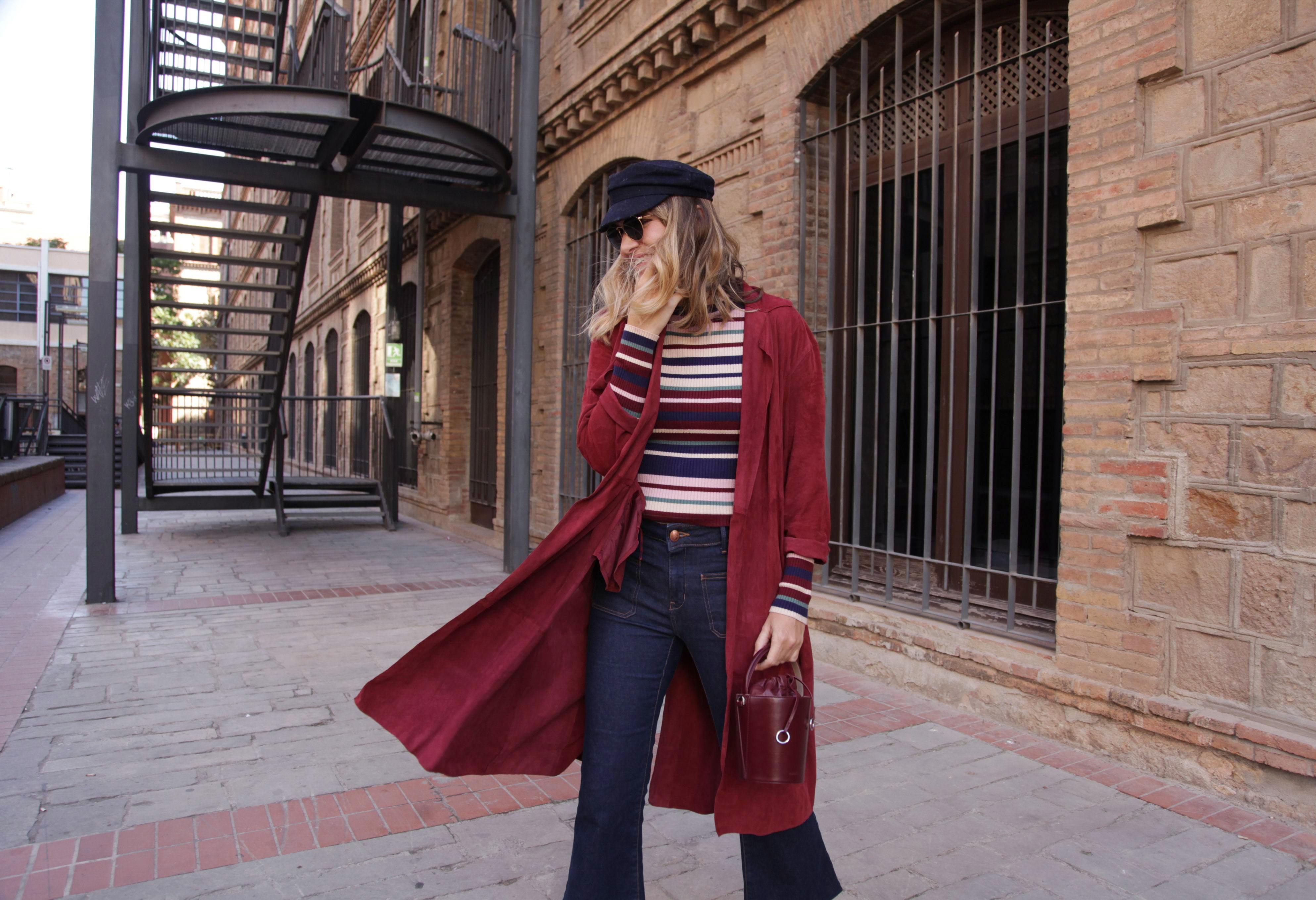 BURGUNDY SUEDE TRENCH-66912-mydailystyle