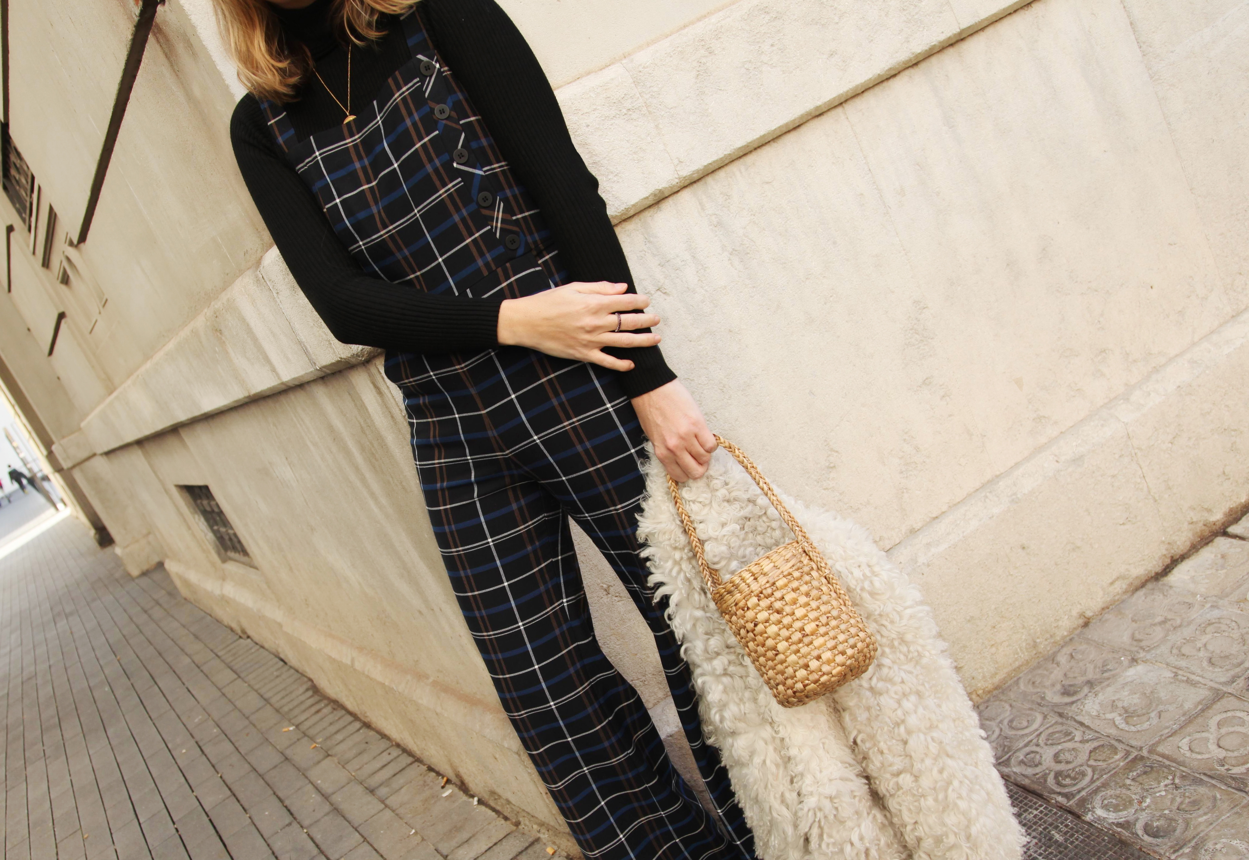 CHECKED DUNGAREES-67316-mydailystyle