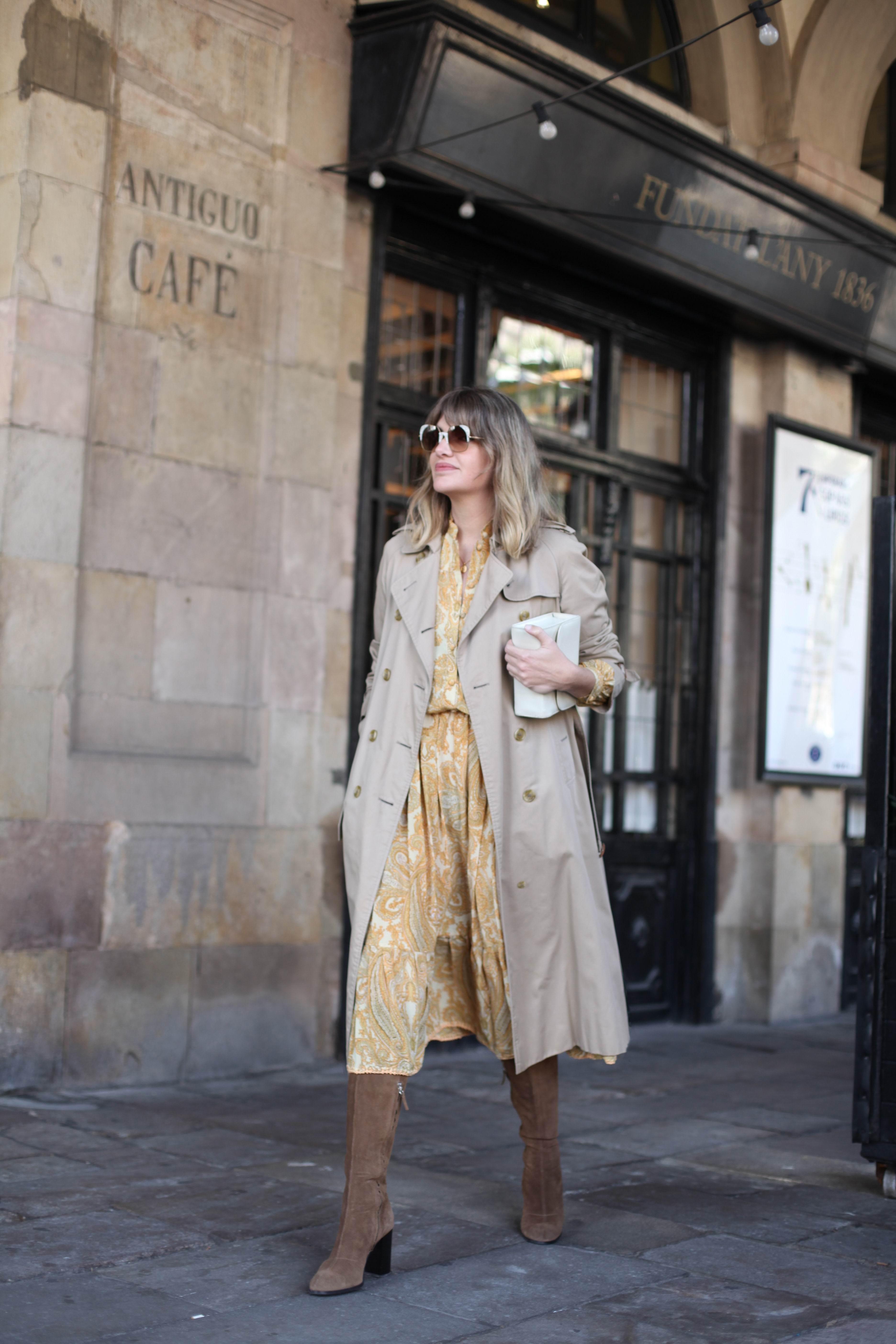 YELLOW PAISLEY DRESS-69178-mydailystyle