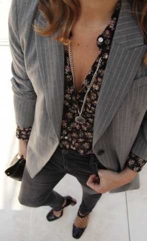FLOWERS AND PINSTRIPES
