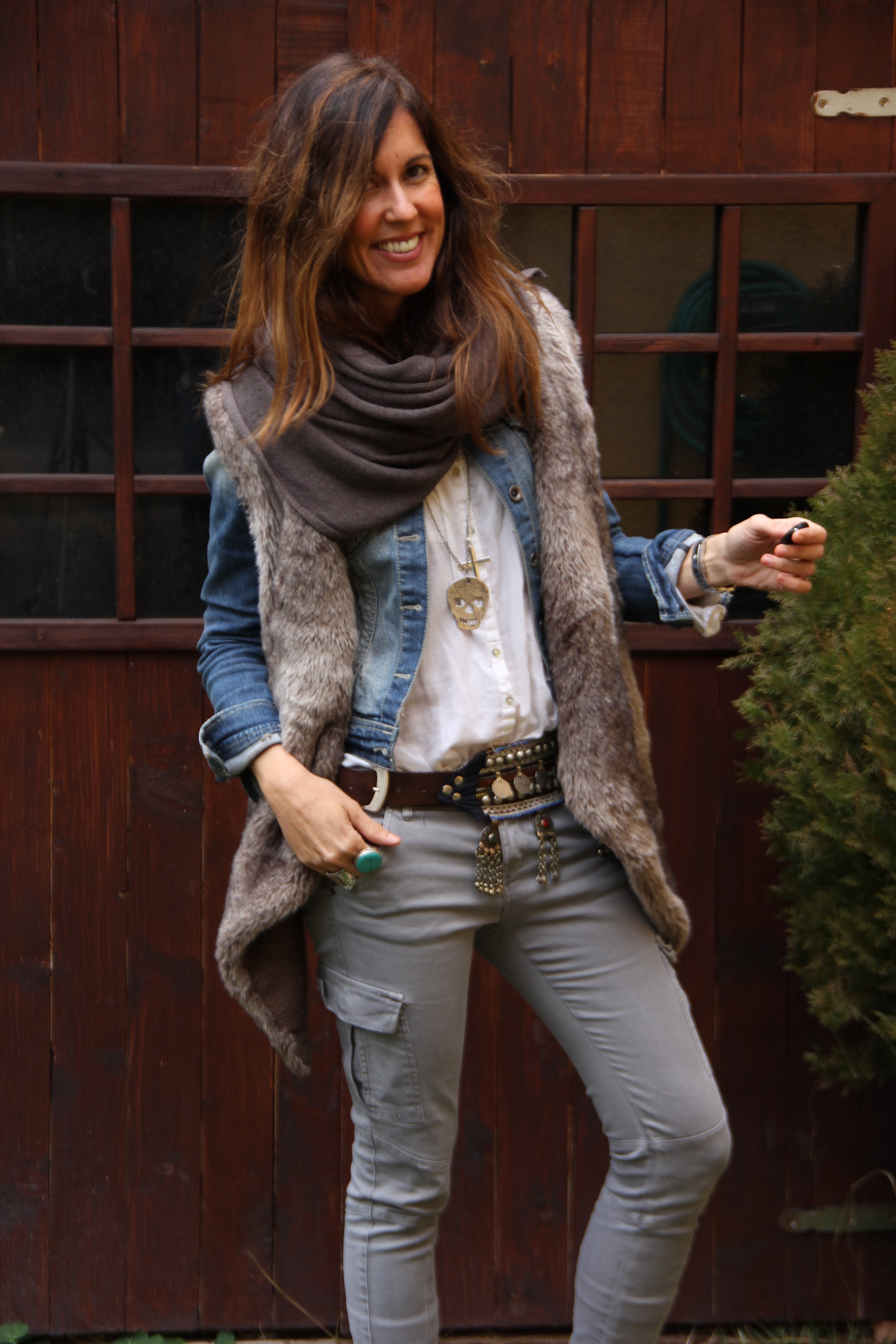 Trend Hairstyle For Man: Mytenida:ethnic Belt And Fur Vest
