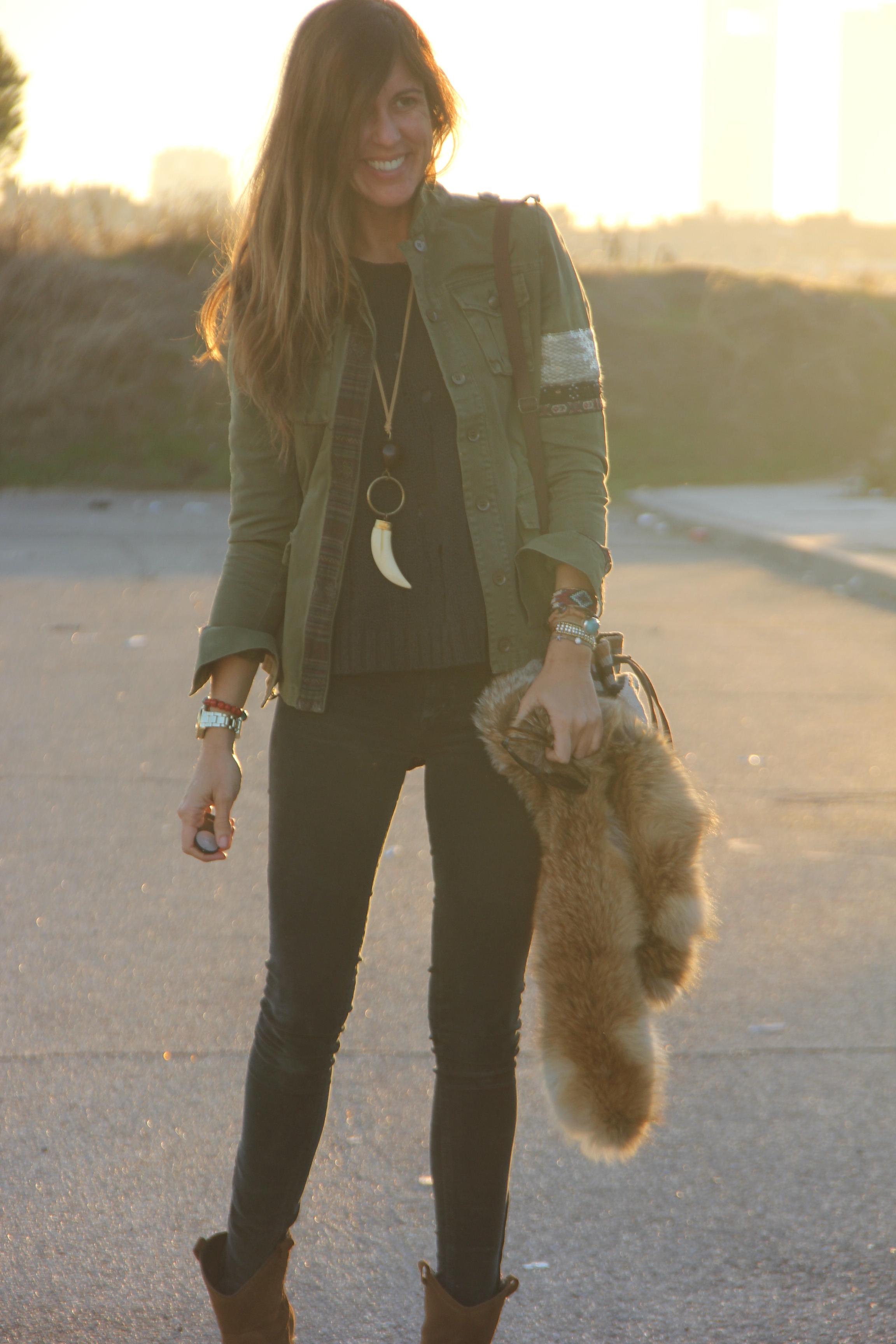 Fur Collar Sweater